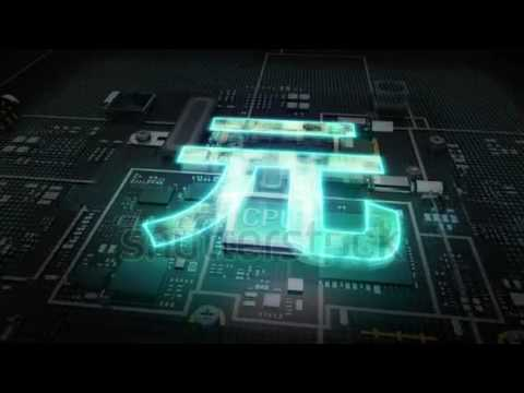 Cpu on hologram Yuan sign, Yuan currency, Digital financial economic market concept