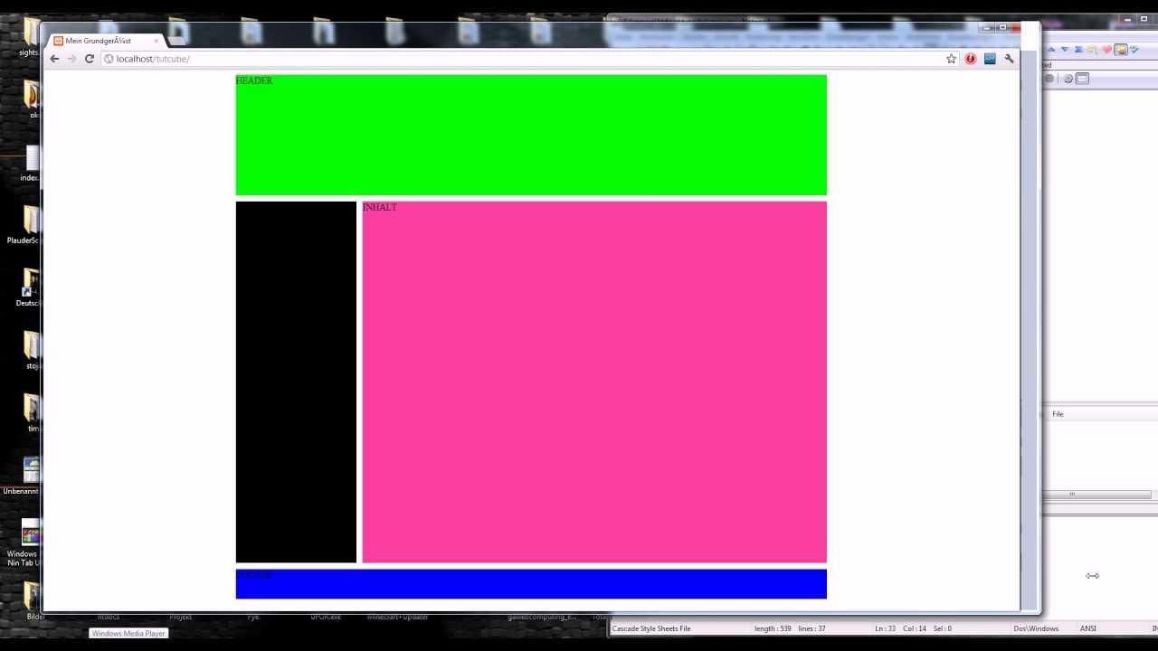 HTML5 & CSS3 - Webseite erstellen (Grundgerüst) #1 [TuTCube] [GER ...
