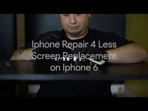 iPhone Repair 4 Less Timelapse iPhone 6 screen repair Lafayette la