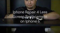iPhone Repair 4 Less Timelapse iPhone 6 screen repair Lafayette la