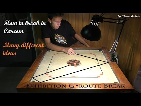 Carrom tricks: how to break in many different ways