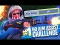 NO AIM ASSIST CHALLENGE in Fortnite Battle Royale!!
