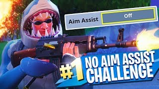 NO AIM ASSIST CHALLENGE dans Fortnite Battle Royale!!