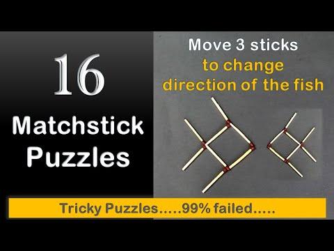 16 Matchstick Puzzles