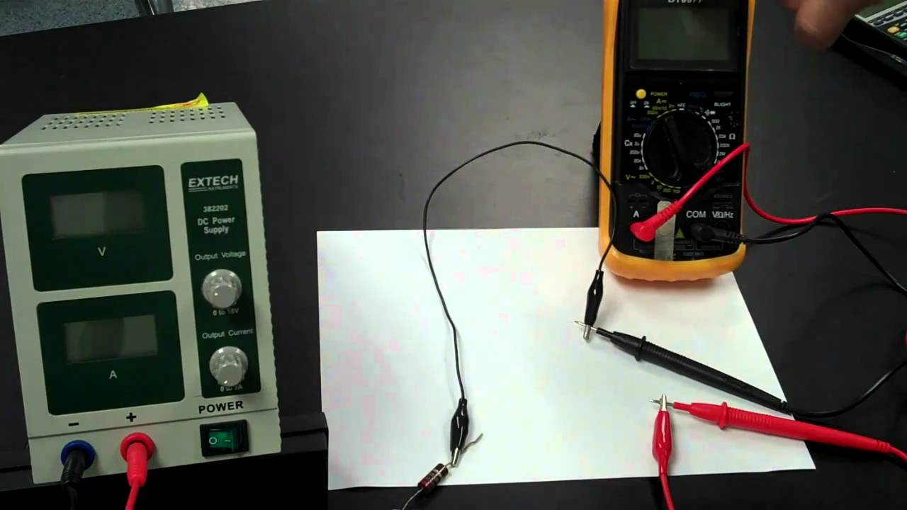 multimeter how to know if live