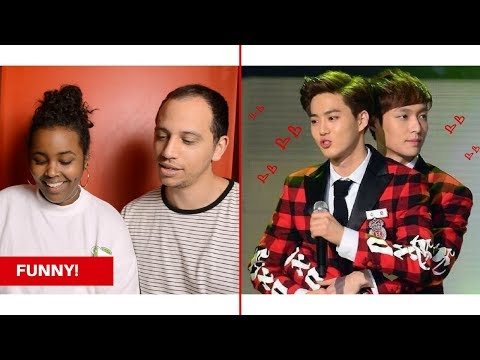 EXO SPEAKING ENGLISH COMPILATION/TRY NOT TO LAUGH CHALLENGE REACTION (EXO REACTION)