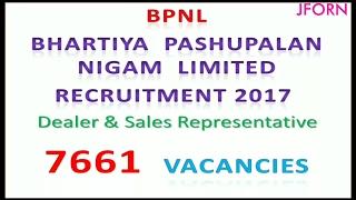Bhartiya Pashupalan Nigam Limited (BPNL) Recruitment 2017