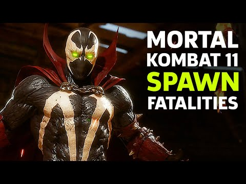 Mortal Kombat 11 - Spawn Fatalities, Brutalities, Fatal Blows, And Combos Gameplay