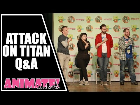 Attack On Titan Q&A with Armin, Nile Dok, Annie and Reiner at Animate Miami 2015