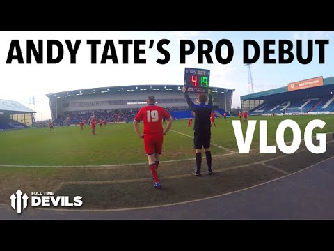 Andy Tate's Professional Football Debut! | VLOG