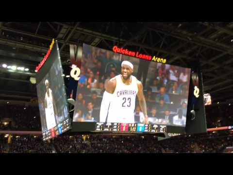 Cleveland Cavaliers 2014-2015 Opening Night (LeBron James' Return): Intro Video and Chalk Toss
