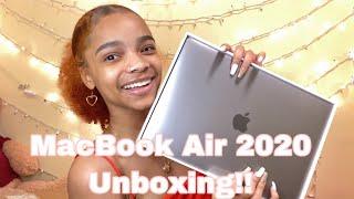 MACBOOK AIR 2020 UNBOXING + ACCESSORIES!!