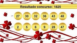 sorteio resultado dupla sena 1825 Palpite 1826