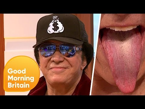 Legendary 'KISS' Frontman Gene Simmons Shows Off His Famous Tongue! | Good Morning Britain