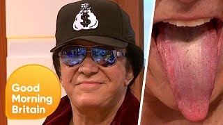 Gene Simmons Shows Off His Famous Tongue! | Good Morning Britain