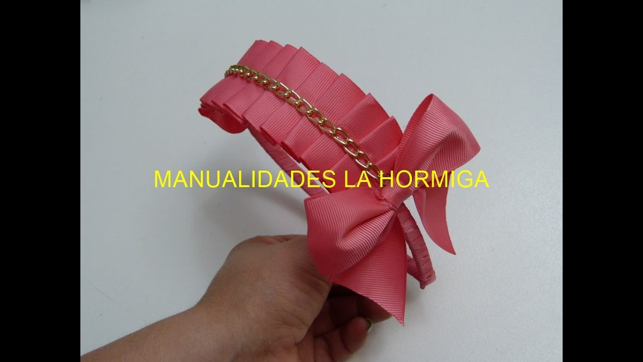 Como hacer diademas cinta doblada para ni as headband for hair youtube - Como hacer diademas ...