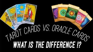 What is the Difference Between Tarot Cards & Oracle Cards!?