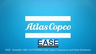 ease atlas copco new oil injected rotary screw compressors
