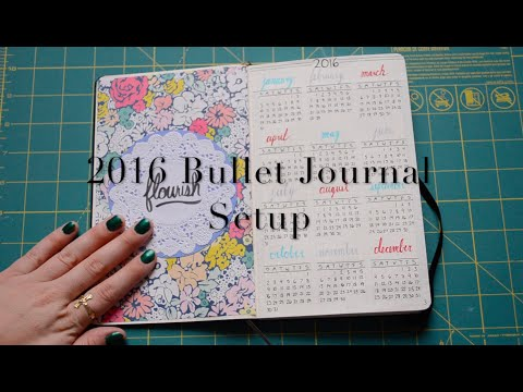 2016 Bullet Journal Setup | krutsicklass