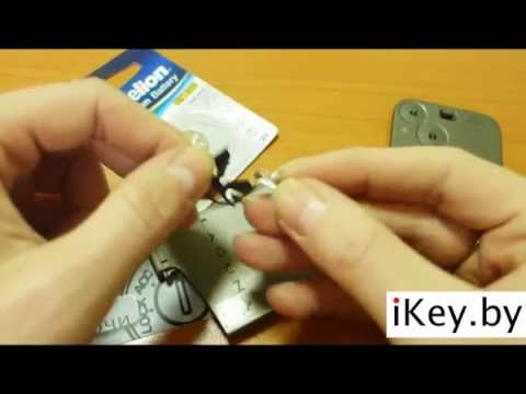 How to change the battery in a Renault key fob Laguna2, Espace .