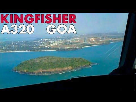 Piloting The KINGFISHER A320 Into Goa India