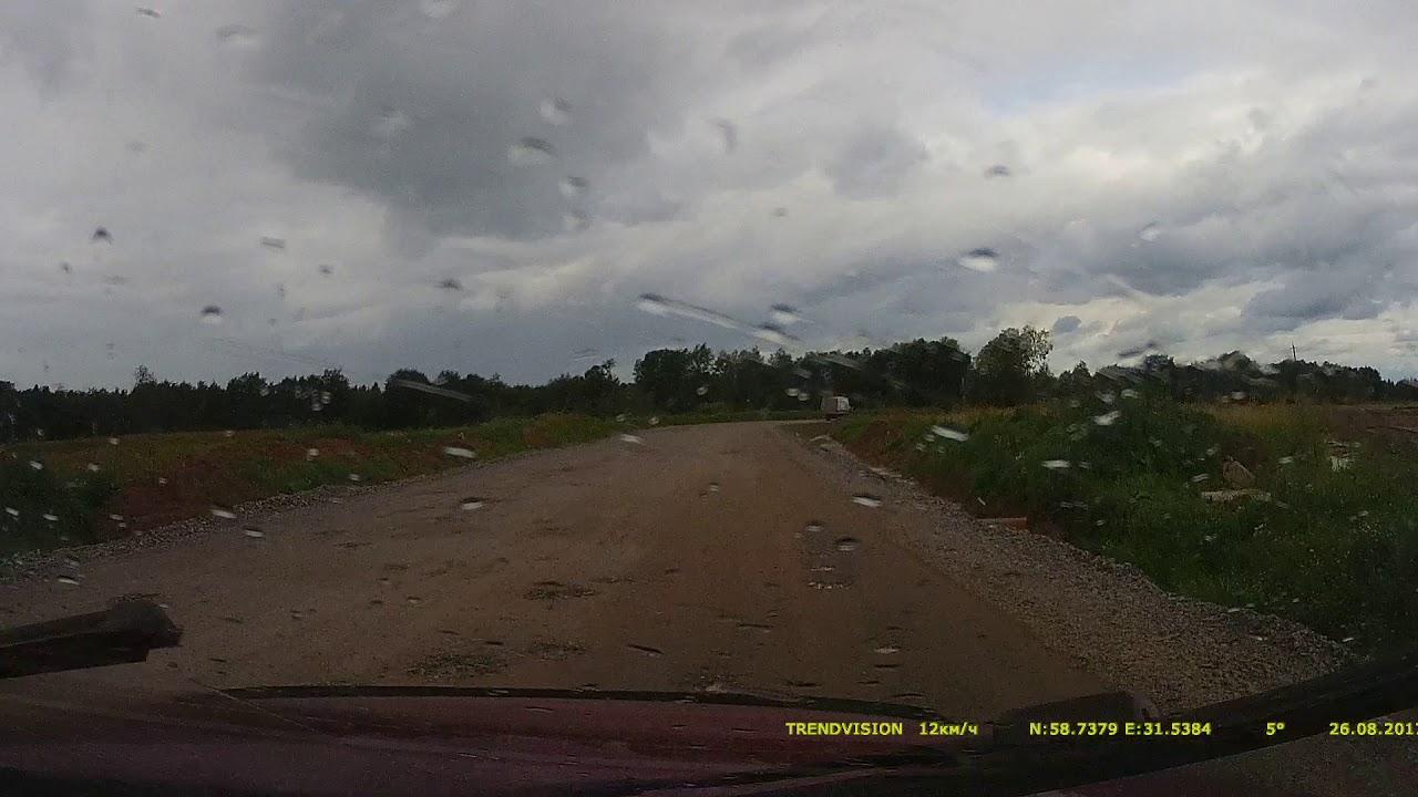 Объезд пробки на М10 у Трегубово движение на Санкт-Петербург конец .
