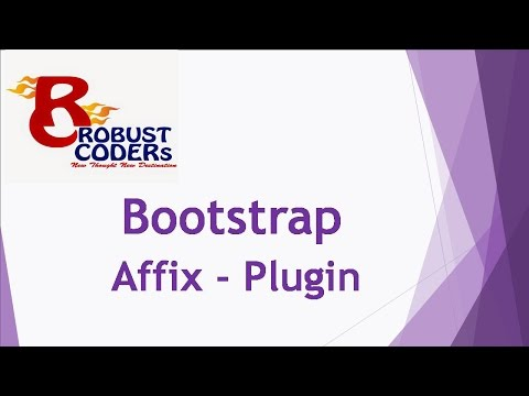 Bootstrap3 tutorial in hindi part-21 | Bootstrap Affix |How