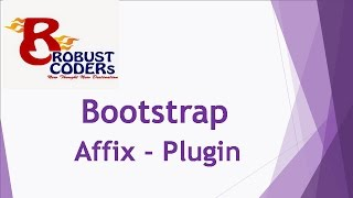 Bootstrap3 tutorial in hindi part-21 |  Bootstrap Affix  |How to Create Bootstrap Affix Example