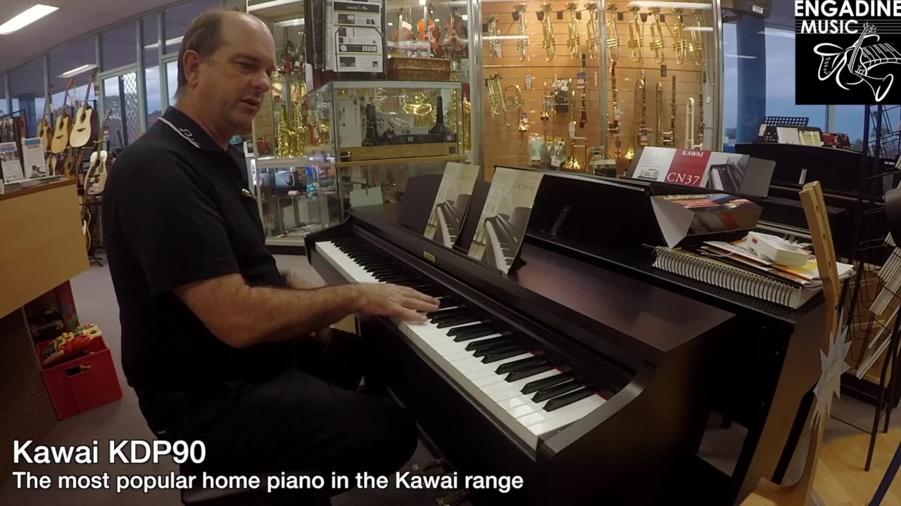kawai kdp90 digital piano review engadine music youtube. Black Bedroom Furniture Sets. Home Design Ideas