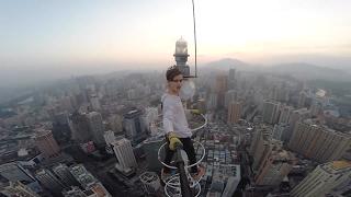 Climbing a BROKEN 780ft Antenna in China