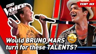 Download lagu Best BRUNO MARS songs on The Voice Kids!   Top 10