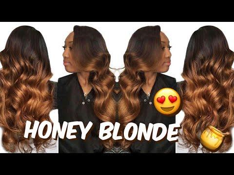 How I DYE MY BUNDLES HONEY BLONDE ft. Yiroo hair