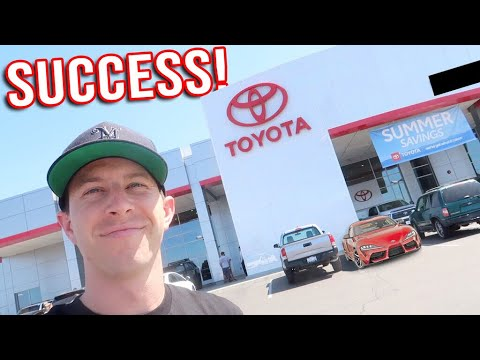 Trying to Buy the FIRST 2020 Supra in California!