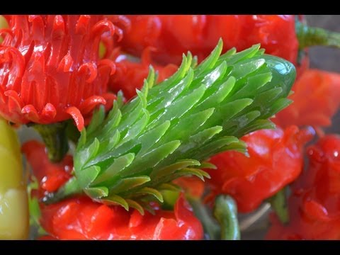 how to make flowers out of bell peppers