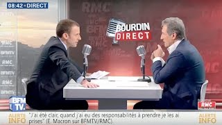 Interview d'Emmanuel Macron par Jean-Jacques Bourdin | BFMTV et RMC