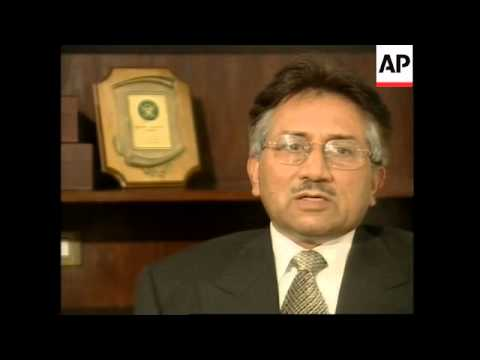Musharraf comments on elections, tensions with India