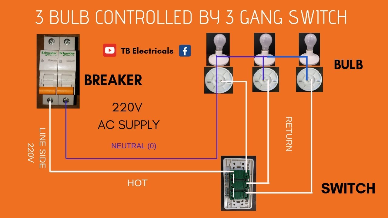 [DIAGRAM_5NL]  Electrical Tutorial: 3-Gang Switch Actual Demo l Wiring (Tagalog) |TB  Electricals - YouTube | 3 Gang Schematic Wiring |  | YouTube