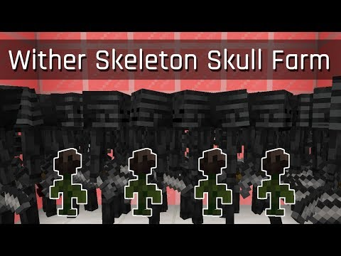 Wither Skeleton Skull Farm (feat. Wither Roses) | Minecraft 1.14
