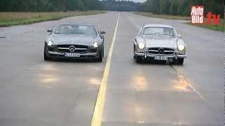 Mercedes 300 SL gegen SLS AMG - Duell der Flügeltürer