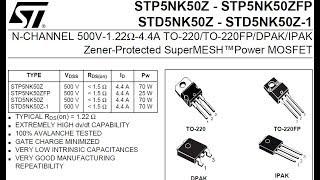 Обзор транзистора STD5NK50Z из Китая. Сравню с настоящим.