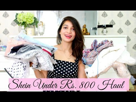 58934956ea SHEIN TRY-ON HAUL ALL OUTFITS UNDER Rs.800 | TanzWorldd - YouTube