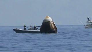Civilian Boats Surround NASA-SpaceX Splashdown