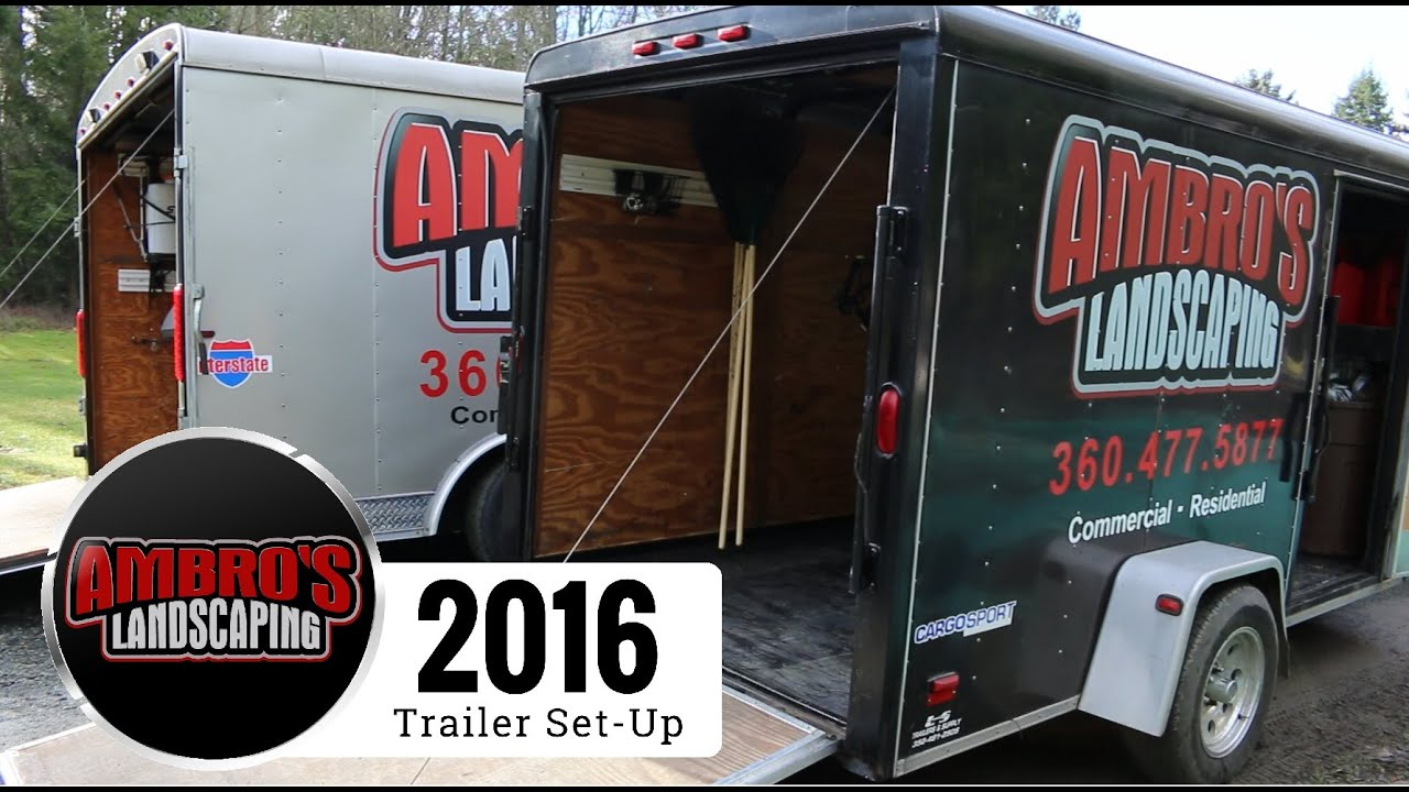 2016 Enclosed Landscaping Trailers Set-Up | 6x12 and 8.5x16 - 2016 Enclosed Landscaping Trailers Set-Up 6x12 And 8.5x16 - YouTube