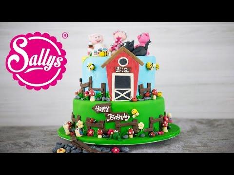 Bauernhof Torte / Farmer Fondant Cake / Elas Geburtstag / Sallys Welt