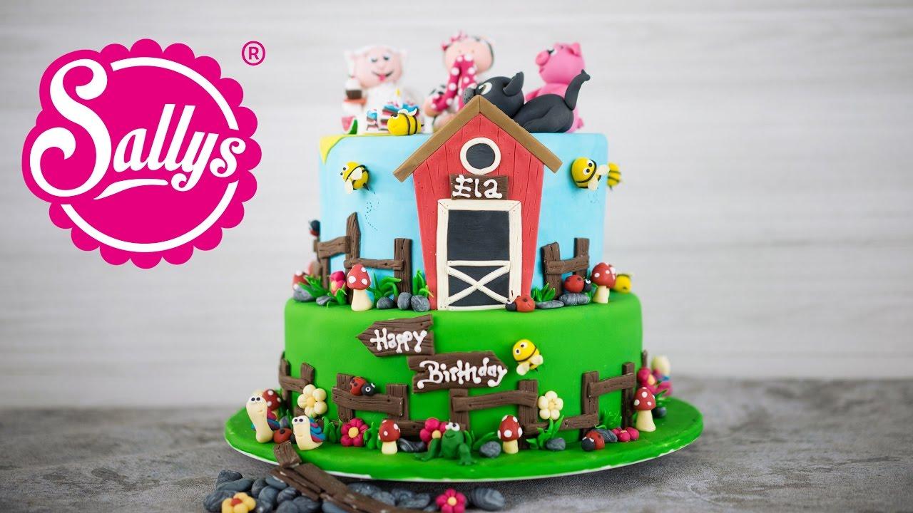 bauernhof torte farmer fondant cake elas geburtstag youtube. Black Bedroom Furniture Sets. Home Design Ideas