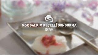 Mor Salkım Reçelli Dondurma Tarifi #mucizelezzetler