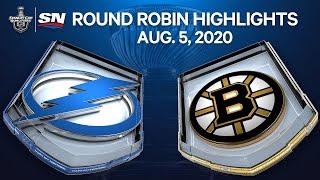 nhl highlights lightning vs bruins aug 05 2020
