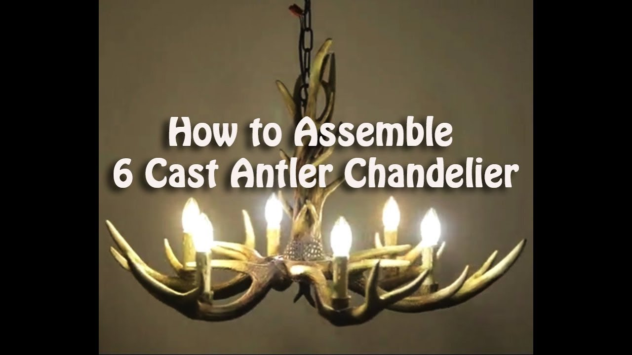 How to assemble 6 cast antler chandelier cascade rustic candle style how to assemble 6 cast antler chandelier cascade rustic candle style ceiling lights aloadofball Image collections