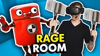NEW ROBOTS & WEAPONS IN RAGE ROOM VR (Rage Room VR Funny Gameplay HTC Vive)
