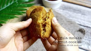 Gula Melaka Coconut Cookies Recipe Video || Bakestarters